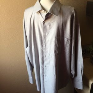 Pronto Uomo Men's Button Down Dress Shirt 19 Neck